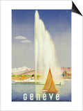 Advertisement for Travel to Geneva  C1937 (Colour Litho)