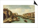 The Grand Canal Near the Rialto Bridge  Venice  C1730