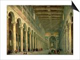 Interior of the Church of San Paolo Fuori Le Mura  Rome  1750