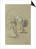Seated Dancer Adjusting Her Shoes  circa 1890