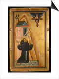 St Francis Receives the Stigmata  Mid-13th Century (Tempera on Wood)