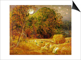 The Harvest Moon  1833 (Oil on Paper Laid on Panel)