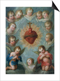 Sacred Heart of Jesus Surrounded by Angels  c1775