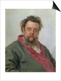 Portrait of Modest Petrovich Moussorgsky (1839-81) 1881
