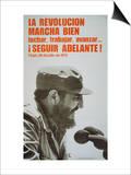 Poster Featuring Fidel Castro  1975