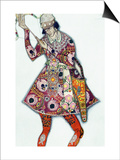 Costume Design For the Tsarevitch  from the Firebird