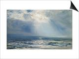 A Sunbeam over the Sea  1890 (Oil on Panel)