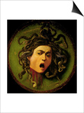 Medusa  Painted on a Leather Jousting Shield  circa 1596-98