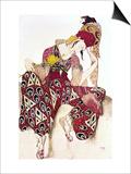 "Costume Design for Nijinsky in the Ballet ""La Peri"" by Paul Dukas 1911"
