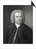 Portrait of Johann Sebastian Bach  German Composer (Engraving)