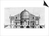 Cross-Section of the Villa Rotonda Near Vicenza  Designed by Andrea Palladio