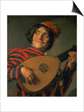 Portrait of a Jester with a Lute