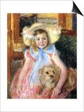 Sara and Her Dog  c1901