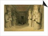 """Interior of the Temple of Abu Simbel  from """"Egypt and Nubia """" Vol1"""