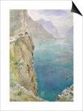 On the Italian Coast  1896 (W/C on Paper)