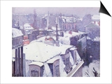 View of Roofs or Roofs Under Snow  1878