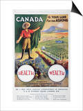 Poster Promoting Emigration to Canada  1914