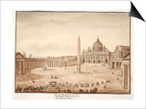 View of St Peter's Basilica in the Vatican  Built on the Ruins of the Circus of Nero  1833