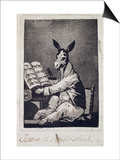 """As Far Back as His Grandfather  Plate 39 of """"Los Caprichos""""  1799"""