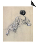 Back of a Young Woman (Study for 'La Malaria') (Chalk on Paper)