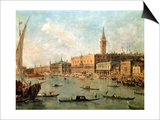 Venice: the Doge's Palace and the Molo from the Basin of San Marco  circa 1770