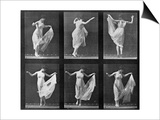 Dancing Woman  Plate 187 from 'Animal Locomotion'  1887 (B/W Photo)