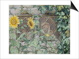 Jesus Looking Through a Lattice with Sunflowers  Illustration for 'The Life of Christ'  C1886-96