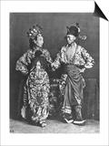 Chinese Actors  circa 1870