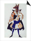 Costume Design For the Wolf  from Sleeping Beauty  1921