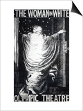 Poster for the Stage Version of 'The Woman in White' by Wilkie Collins  Performed in 1871