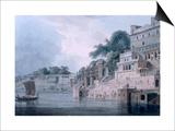 Dasasvamedha Ghat  Benares  Uttar Pradesh  C1788-89 (Coloured Aquatint)