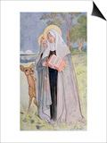St Bridget of Sweden Illustration from a Book on Famous Women of Sweden  1900