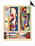 Abstract Designs  from 'Decorations and Colours'  Published 1930 (Colour Litho)