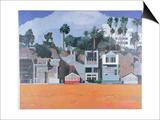 Houses under the Cliff  Santa Monica  USA  2002