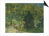Promenaders  Jardin Du Poete  Arles  1888