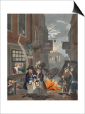Times of Day  Night  Illustration from 'Hogarth Restored: the Whole Works of the Celebrated