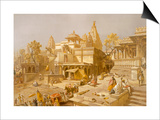 The Temple of Juggernauth  Oodepoore  from 'India Ancient and Modern'  1867 (Colour Litho)