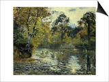 The Pond at Montfoucault; L'Etang De Montfoucault  1874