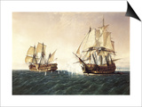 Combat Between the Spanish Ship 'Catalan' and the British Ship 'Mary' in 1819  1888