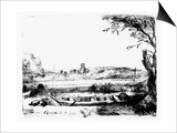 View of a Canal  1650 (Etching)