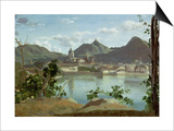 The Town and Lake Como  1834