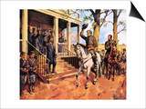 General Lee and His Horse 'Traveller' Surrenders to General Grant