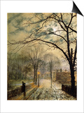 A Moonlit Stroll  Bonchurch  Isle of Wight  1878