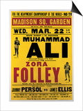 Poster Advertising the Fight Between Muhammad Ali and Zora Folley  Madison Square Garden  22nd