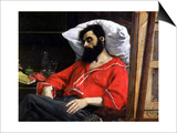 """The Convalescent  or the Wounded Man  Detail from """"The Visit to the Convalescent""""  circa 1860"""