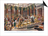 The Visit of the Queen of Sheba to King Solomon  Illustration from 'Hutchinson's History of the…