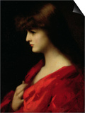 Study of a Woman in Red  Early 1890s