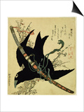 The Little Raven with the Minamoto Clan Sword  c1823