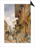 Street in Bombay  from 'India Ancient and Modern'  1867 (Colour Litho)