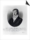 Georg Wilhelm Friedrich Hegel  Engraved by FW Bollinger  C1825